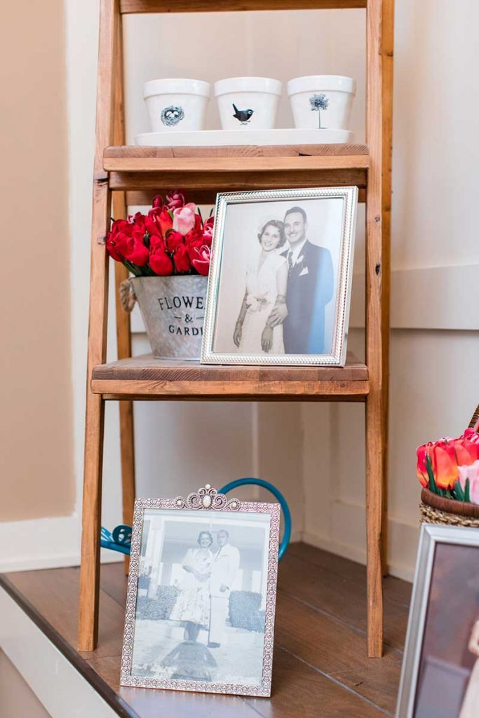 Photos of grandparents at wedding