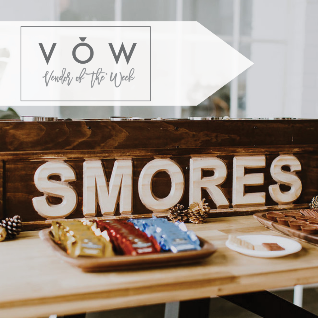 S'mores bar wedding sign wedding dessert by North mallow