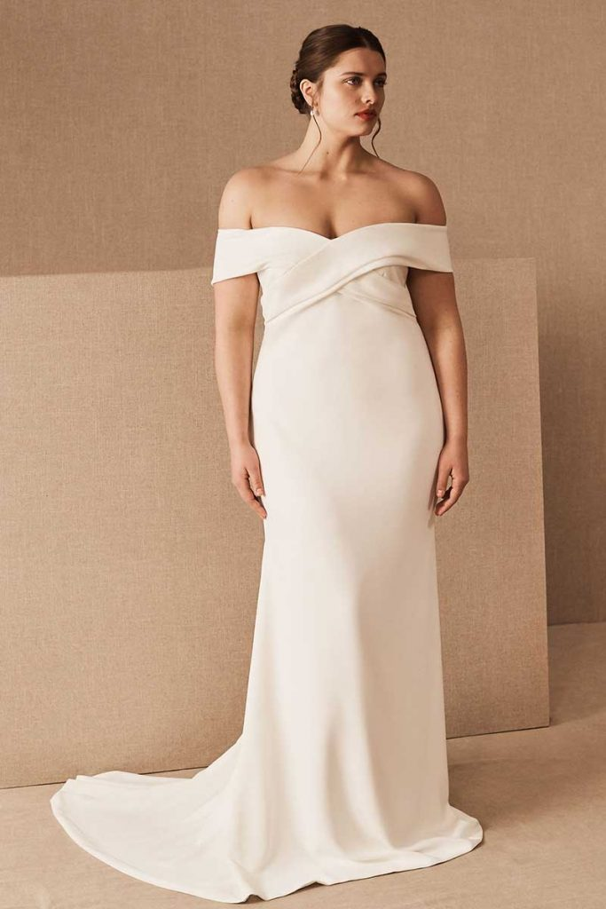 Off the shoulder bridal Theia Blake Gown for BHLDN