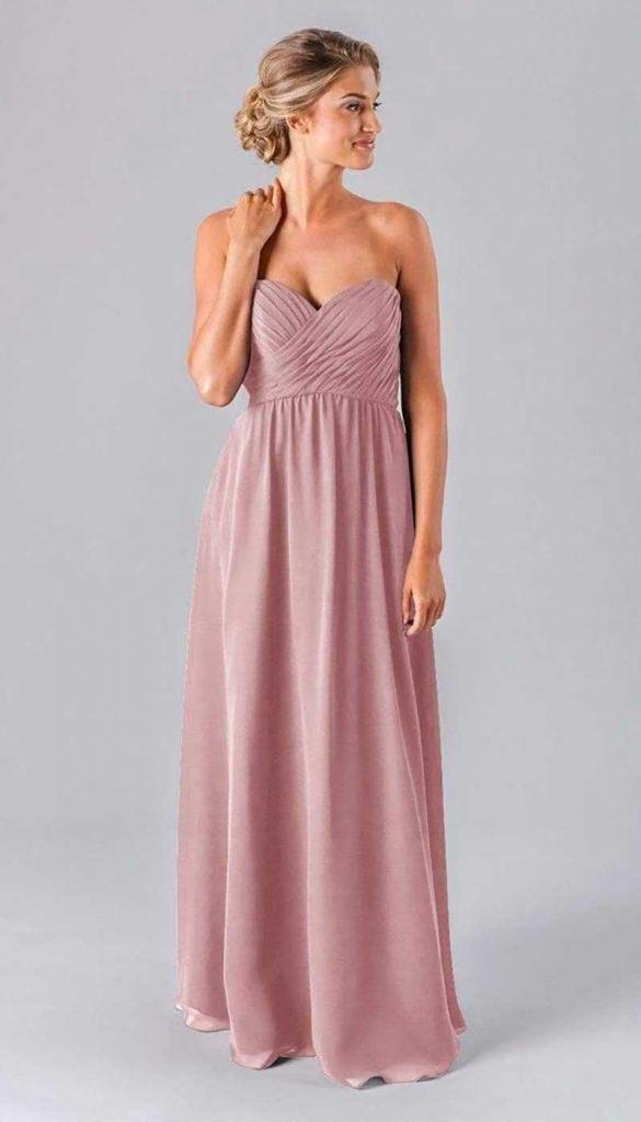 Dusty rose bridesmaid dress by Kennedy. Blue