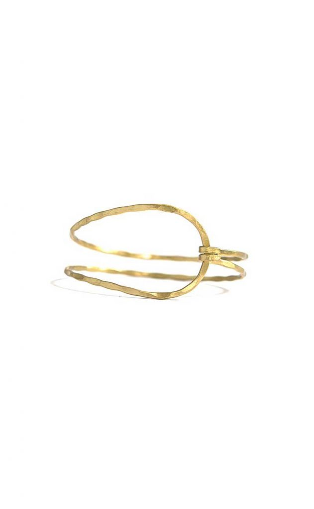 Gold clasp bracelet by Fair Anita
