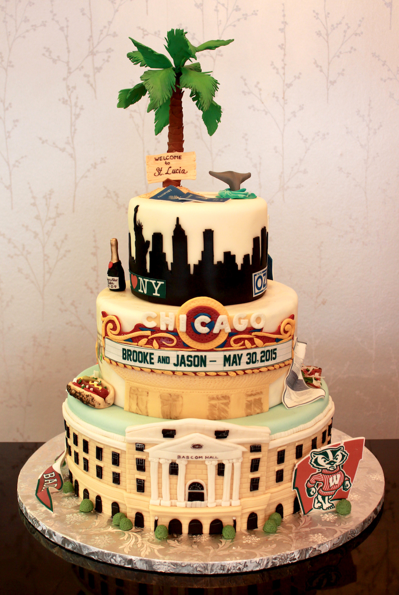 Chicago-themed groom's cake by Sweet Retreat Minnesota Bakery