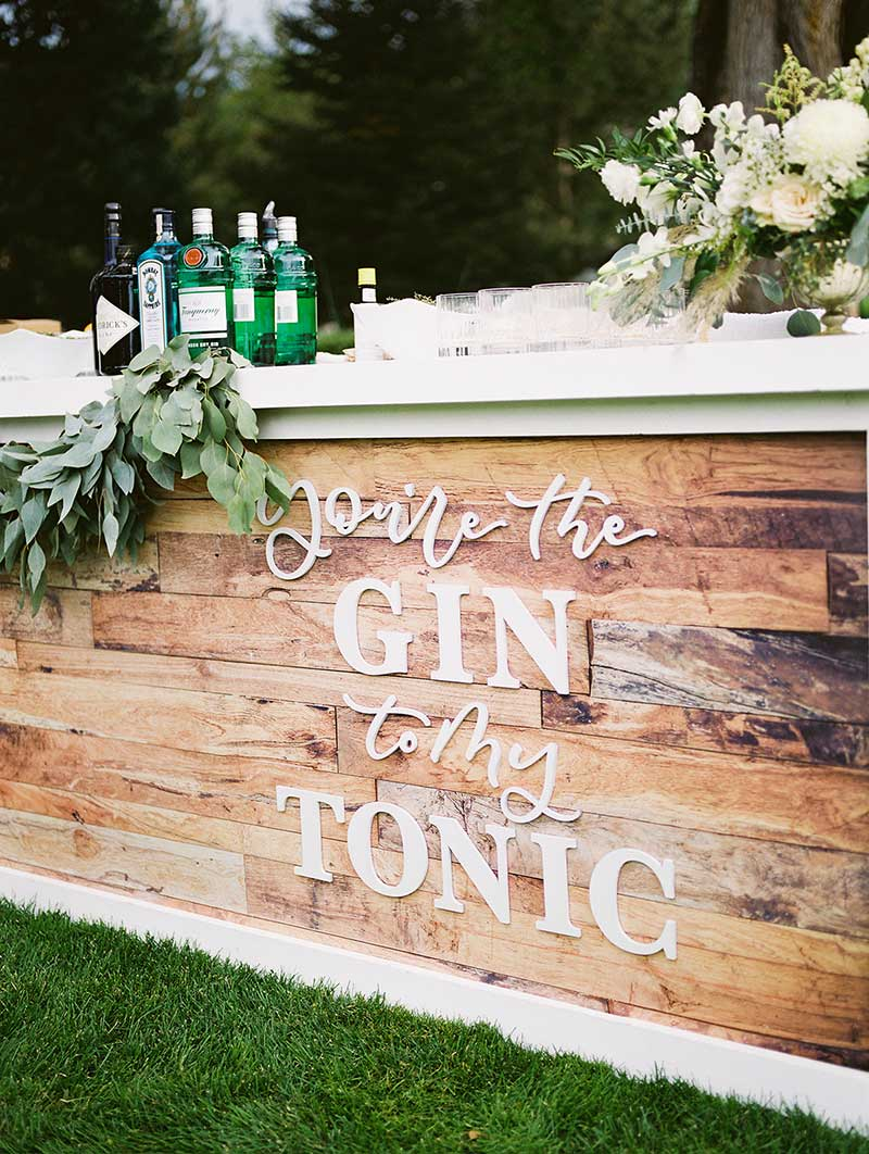 Custom bars at weddings