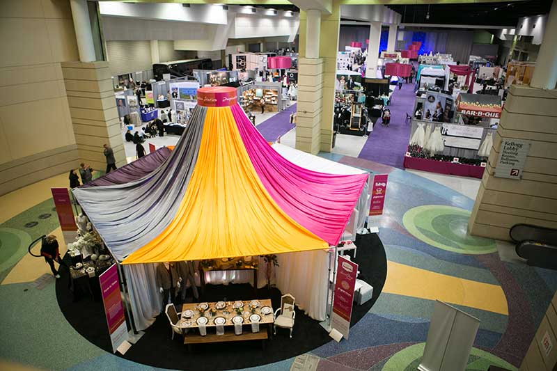 Wedding theme Inspiration Station at Twin Cities Bridal Show