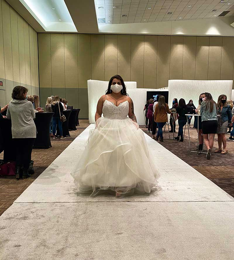 Plus size ballgown at the 2020 Twin Cities Bridal Show fashion show