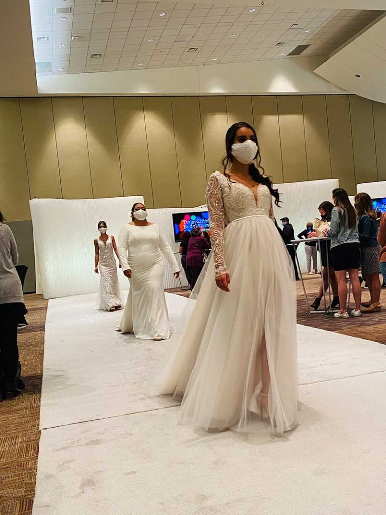 Models walk the runway the 2020 Twin Cities Bridal Show