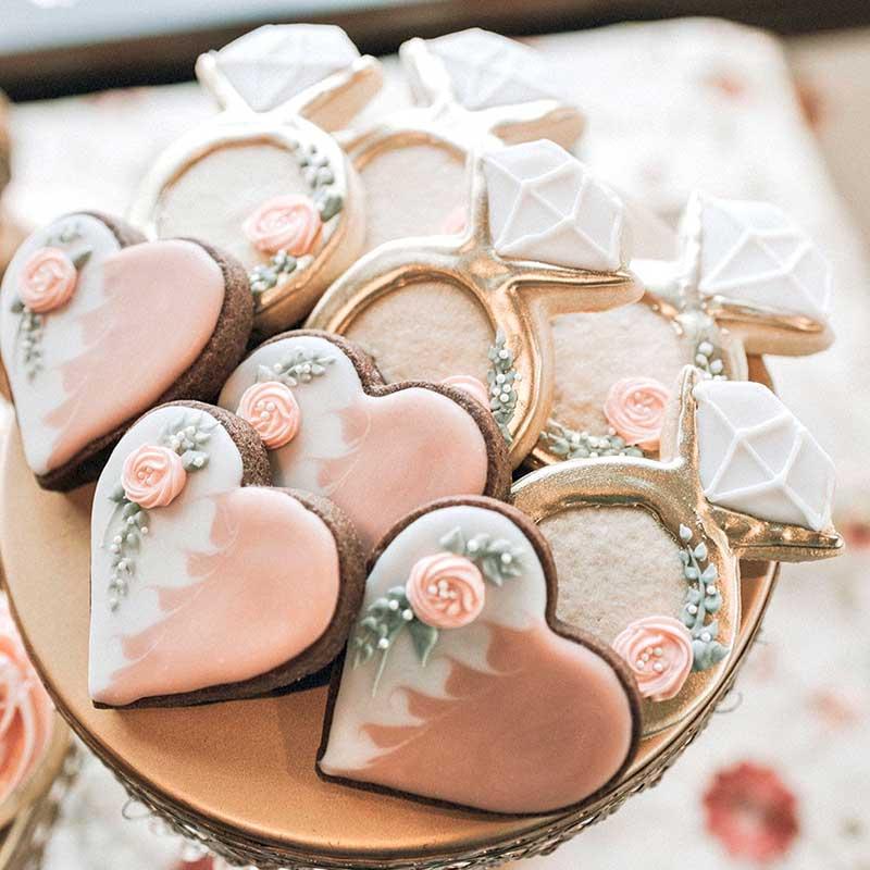 Cookies as wedding favor by Sweet LuLu's by Lori