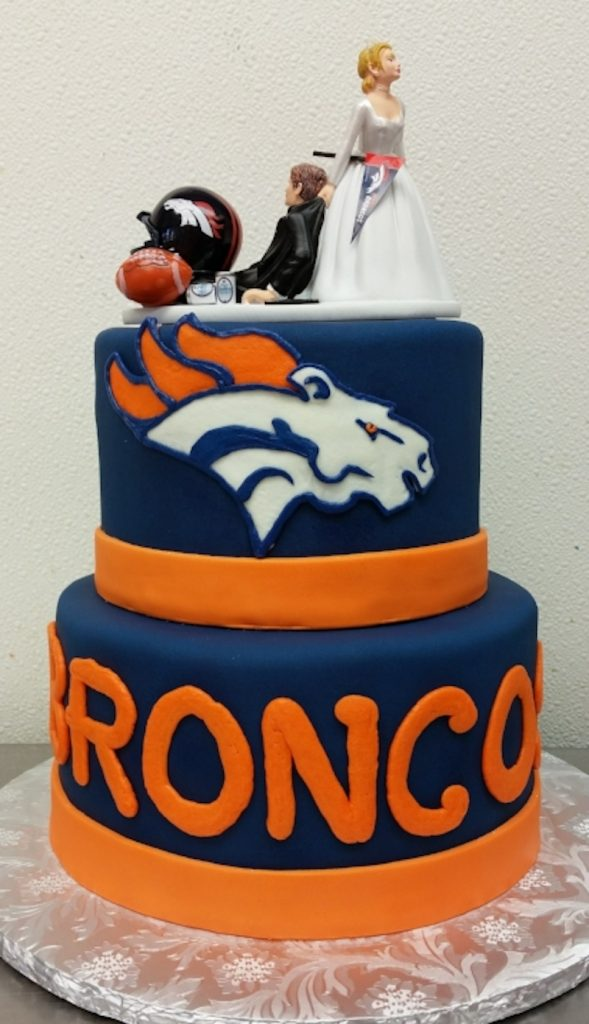 Denver Broncos groom's cake by Queen of Cakes