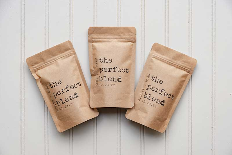 Mini coffee bag wedding favors