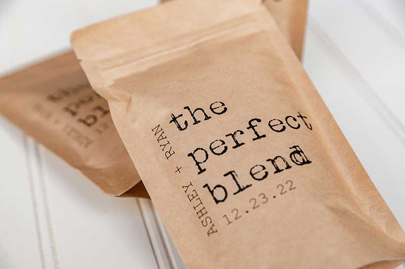 Wedding favor coffee by Give It Pretty