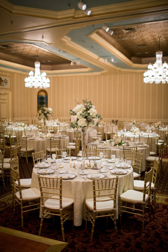 Wedding reception space at The Saint Paul Hotel