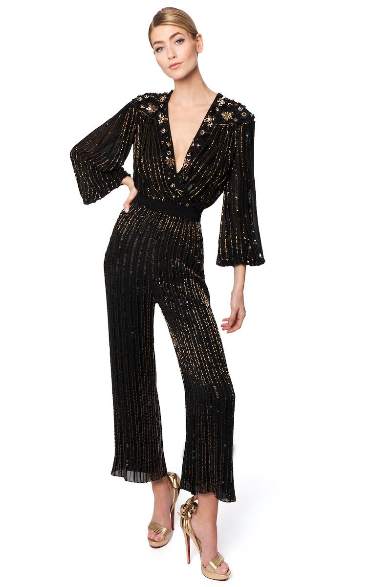 Black jumpsuit idea for bridesmaids by Jenny Packham