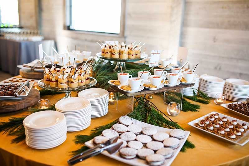 Harvest style catering at wedding