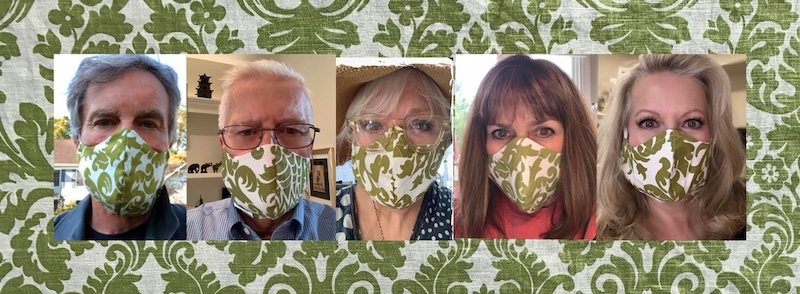 Sound of Music curtain replica face mask by Debbie Turner