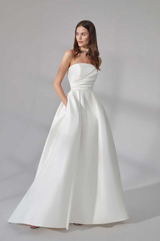 A-line dress with pockets