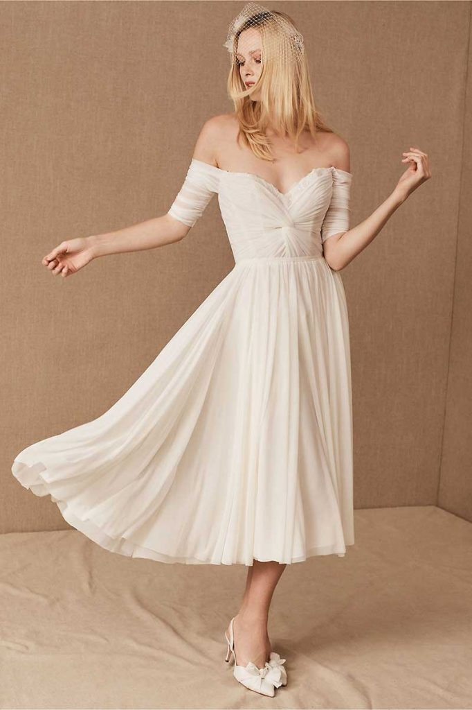 Tea length gown for 2021 bridal fashion trends