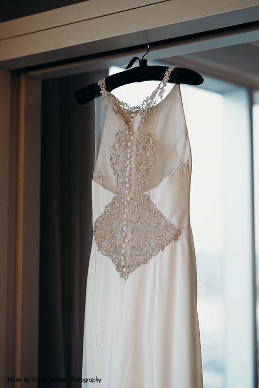 Button-back wedding dress from The Wedding Shoppe
