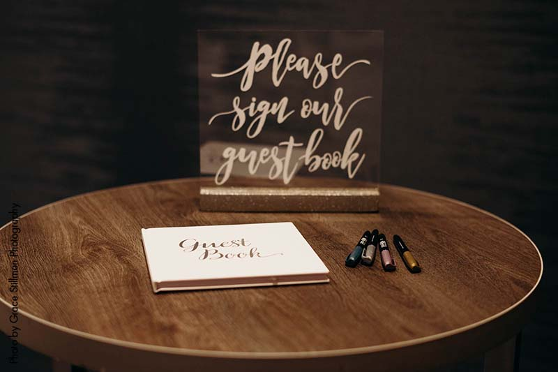 Guest book written in calligraphy