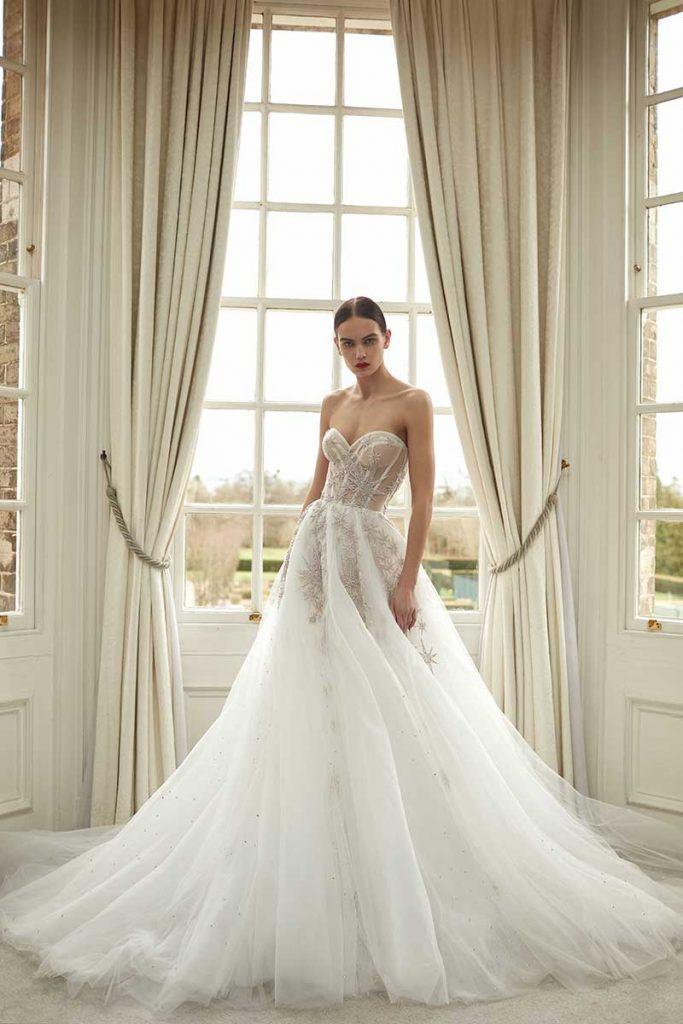 Corset top bridal gown by Galia Lahav