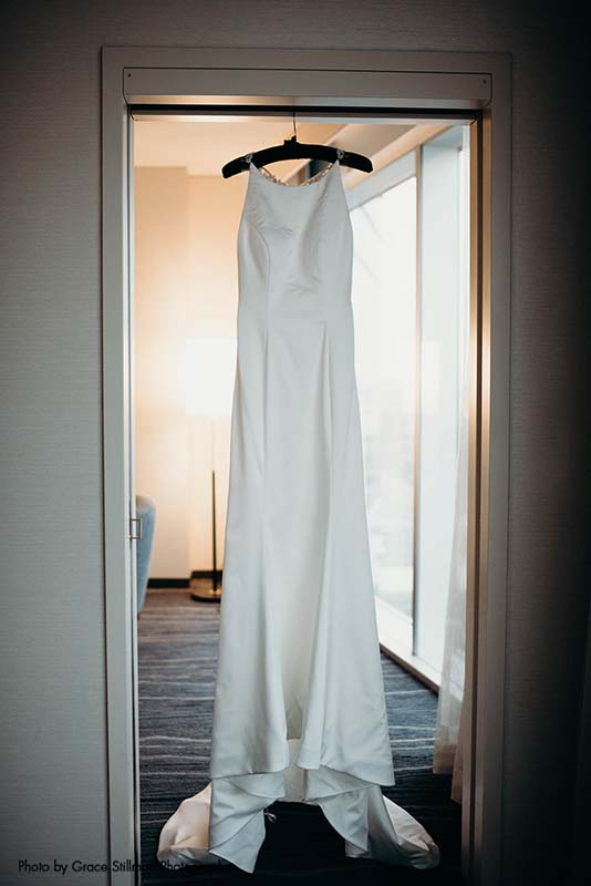 High neck wedding gown from The Wedding Shoppe