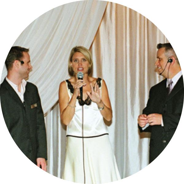 Wedding pros at awards show