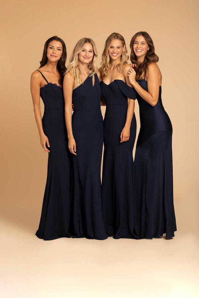 Variety of Navy Bridesmaid Dresses