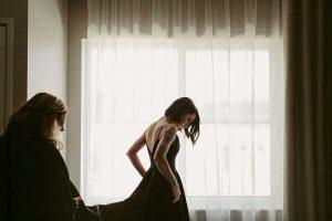 Dark wedding dress