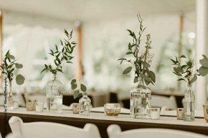 Greenery wedding decor tabletop