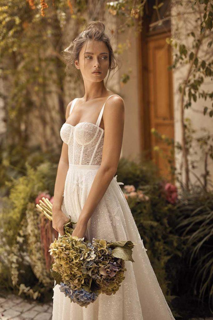 Corset lace bridal gown by Lhi Hod