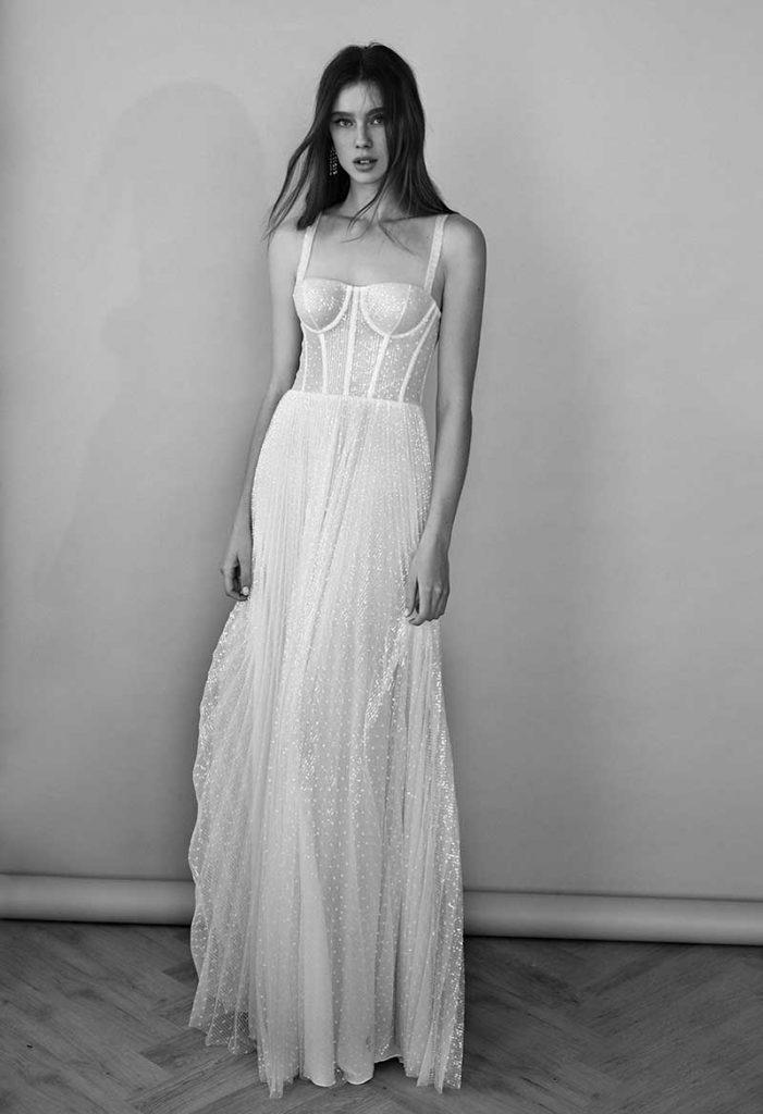 2021 bridal fashion trends see through bodice