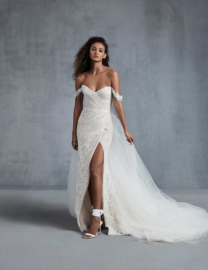 Strapless embellished bridal gown for 2021 bridal fashion trends