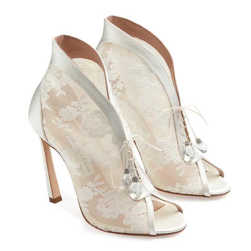 Lace bridal heels by Galia Lahav