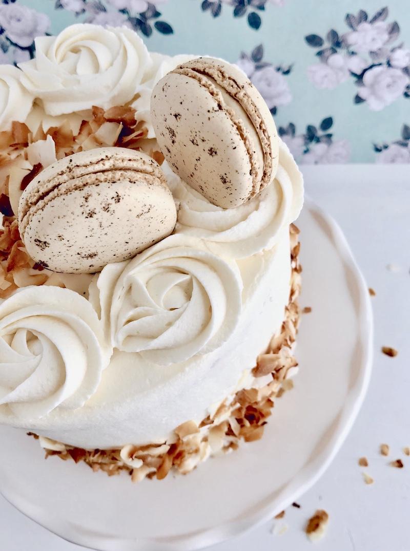 Macaron wedding cake by Sweet Lulu's