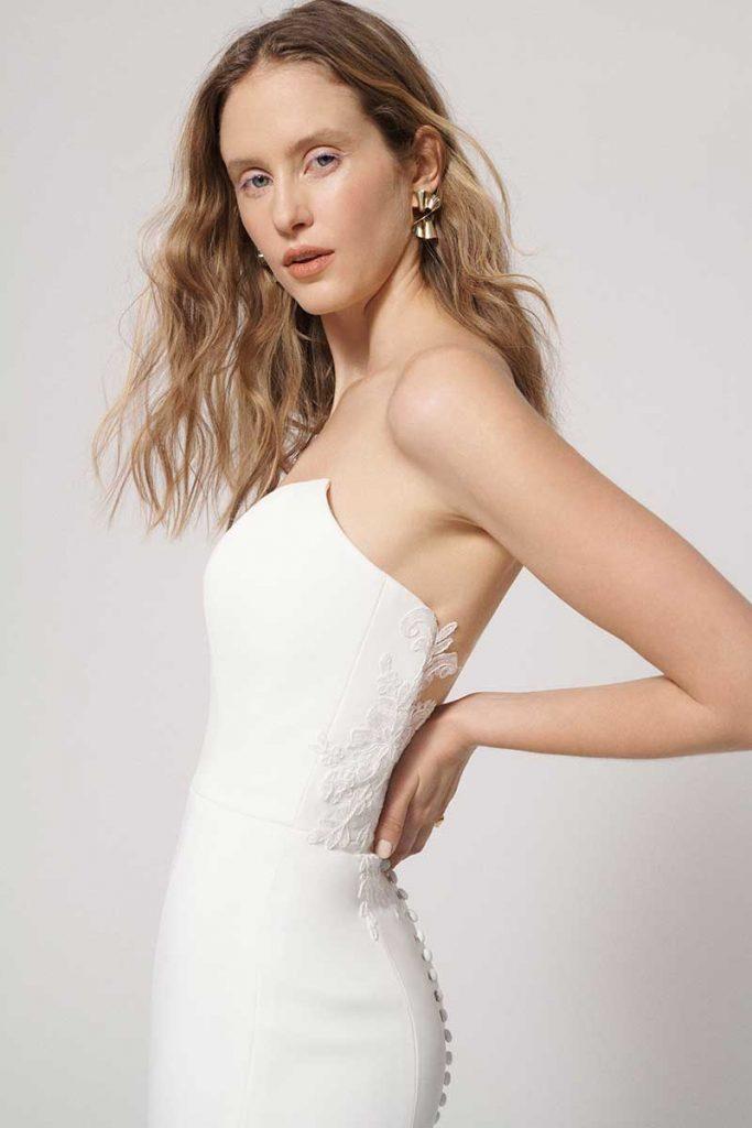 Rita Vinieris strapless gown