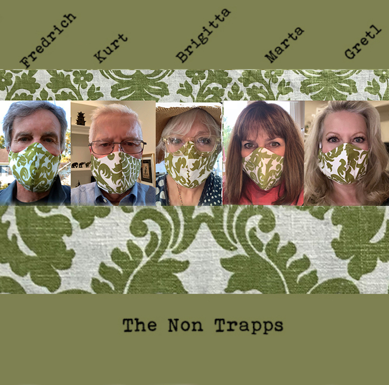 The Sound of Music cast in curtain replica face masks
