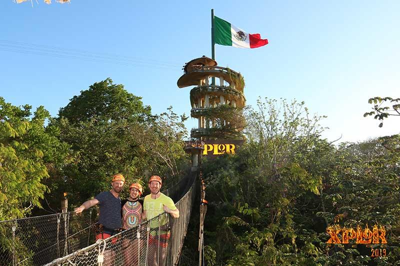 Group explores at Xplor! Adventure Park