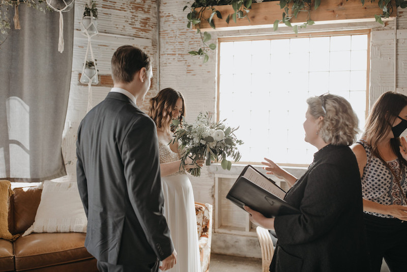 Couple is married by professional officiant from Marry me in the Northland