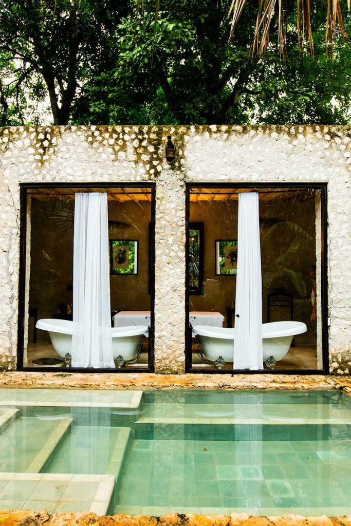 Coqui Coqui spa pool in the State of Yucatan