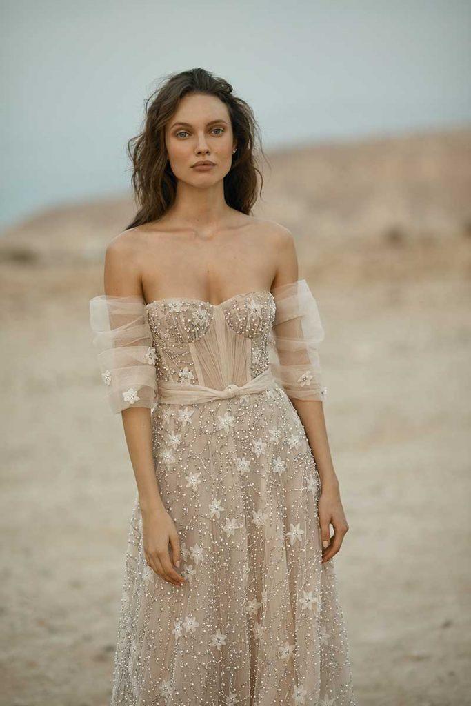 Nude corset bodice 2021 bridal fashion trends