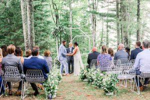 Intimate wedding ceremony in Wisconsin