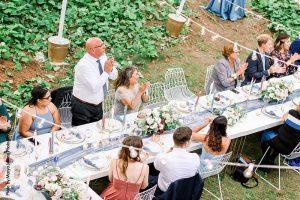 Micro wedding community table setup