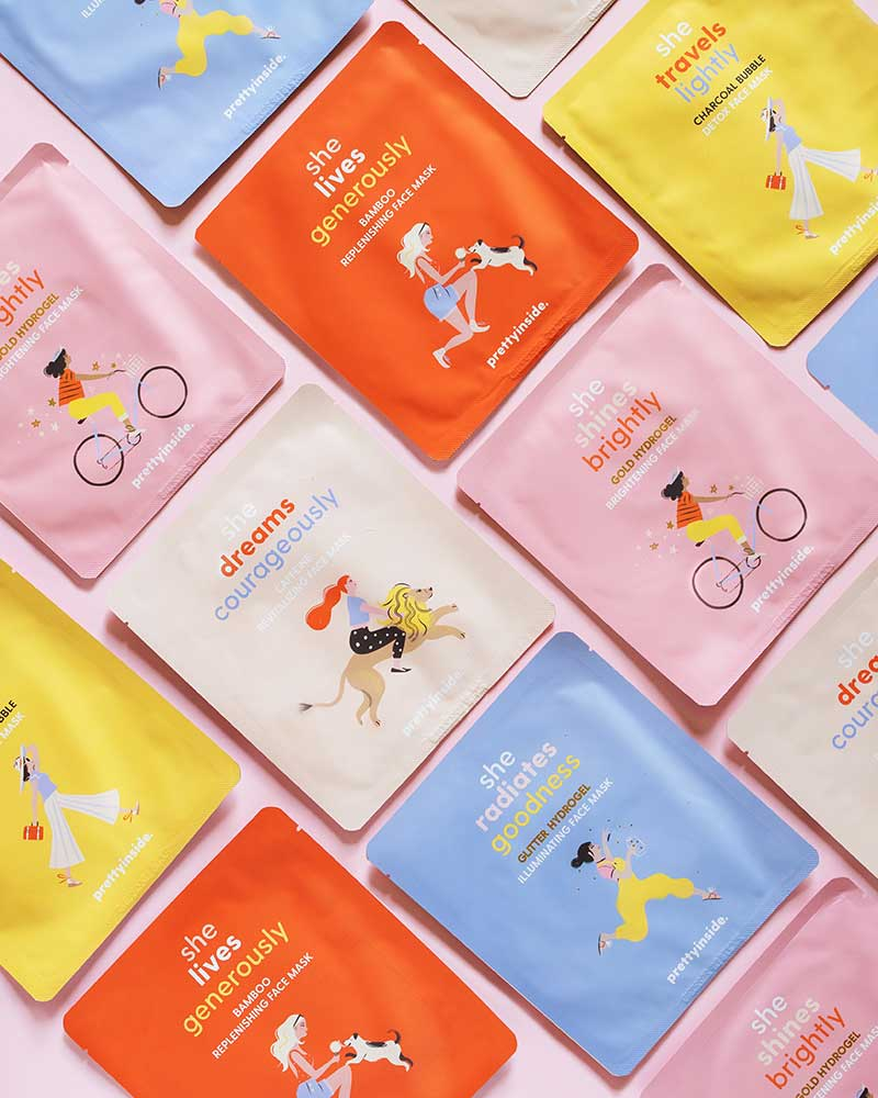 Bright colored face masks in preventing dry skin by prettyinsidebeauty