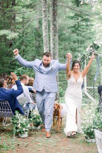 Couple celebrates intimate wedding ceremony
