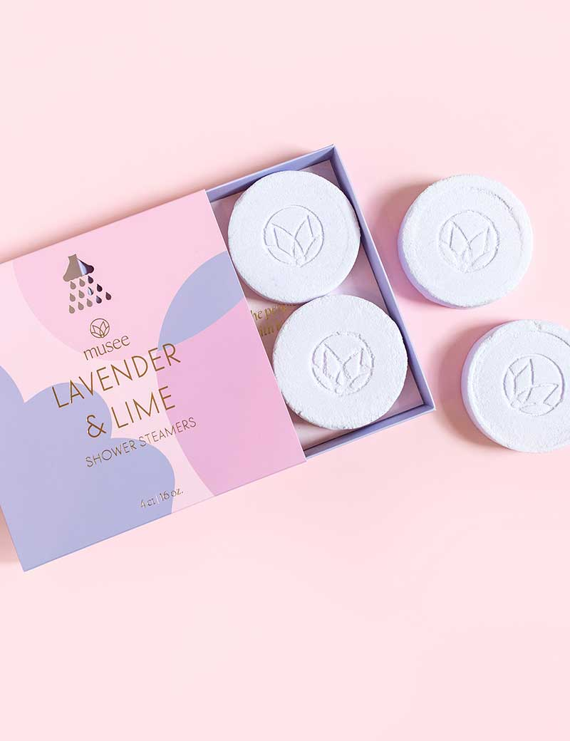 Lavender shower steamers by Musee