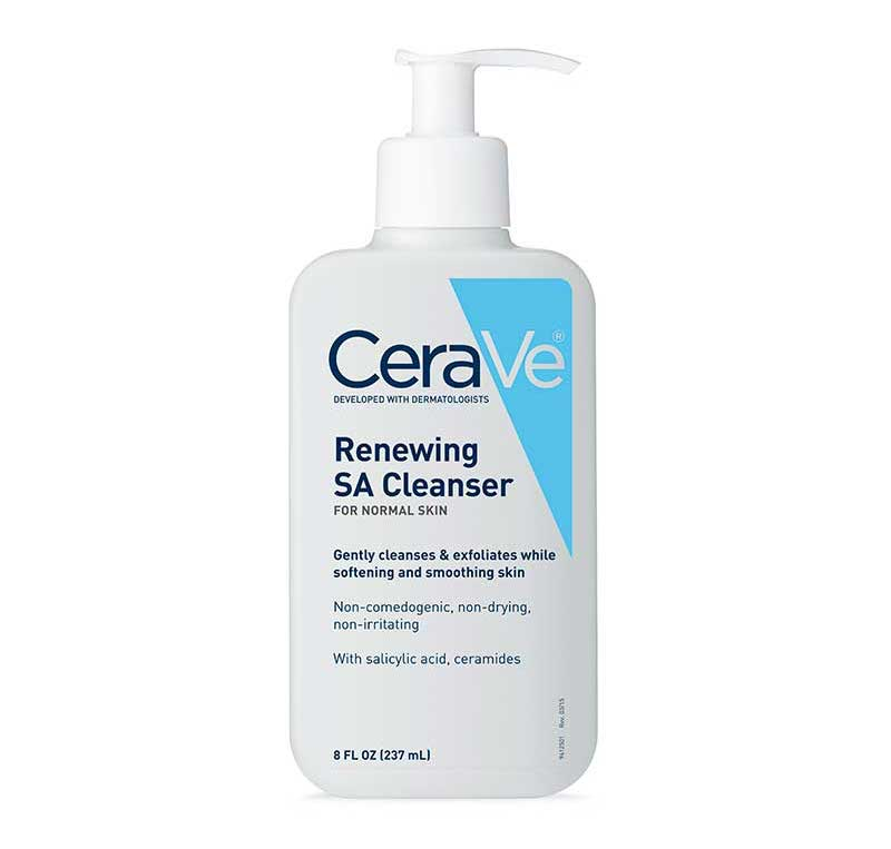 Renewing cleanser by CeraVe for preventing dry skin