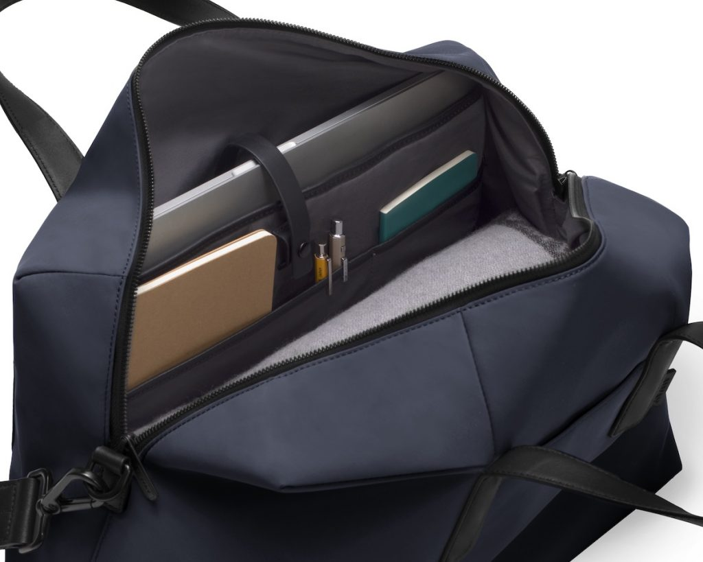 Navy travel bag by Away