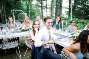 Wedding guests at small wedding