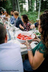 Tomato wedding appetizer