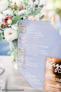 Custom wedding cake signage