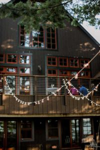 Black barn wedding venue in Wisconsin
